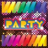 Kleurrijke mozaïekachtergrond voor partij Stock Afbeeldingen