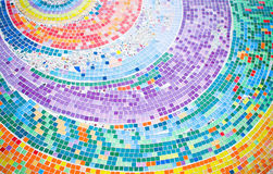 Kleurrijke mozaïekcirkel als achtergrond Royalty-vrije Stock Afbeelding