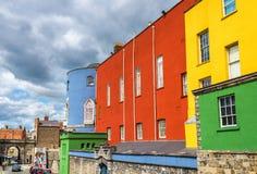 Kleurrijke muren van Dublin Castle Royalty-vrije Stock Afbeeldingen