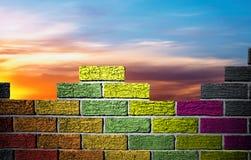 Kleurrijke muur Royalty-vrije Stock Foto
