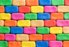 Kleurrijke muur als achtergrond Royalty-vrije Stock Afbeelding