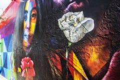 Kleurrijke muur bij Wynwood-Muren in Miami Florida stock foto's