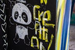 Kleurrijke muur bij Wynwood-Muren in Miami Florida stock foto