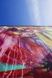 Kleurrijke muur bij Wynwood-Muren in Miami Florida stock afbeelding