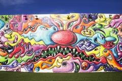 Kleurrijke muur bij Wynwood-Muren in Miami Florida stock fotografie