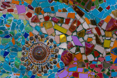 Kleurrijke muursamenvatting Royalty-vrije Stock Foto's