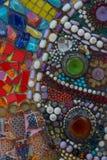 Kleurrijke muursamenvatting Stock Fotografie