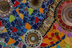 Kleurrijke muursamenvatting Stock Foto's