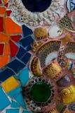 Kleurrijke muursamenvatting Stock Foto
