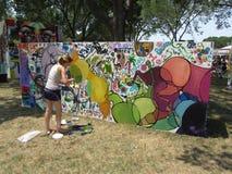 Kleurrijke Muurschildering bij de Wandelgalerij Stock Fotografie