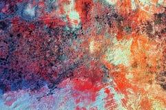 Kleurrijke muurtextuur/achtergrond Grunge Royalty-vrije Stock Afbeeldingen