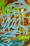 Kleurrijke muurtextuur Concrete, doorstane, versleten muur beschadigde verf Grungy concrete oppervlakte vector illustratie