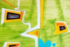 Kleurrijke muurtextuur Concrete, doorstane, versleten muur beschadigde verf Grungy concrete oppervlakte royalty-vrije stock afbeeldingen