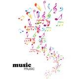 Kleurrijke muziekachtergrond Royalty-vrije Stock Foto's