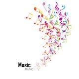 Kleurrijke muziekachtergrond Stock Afbeelding
