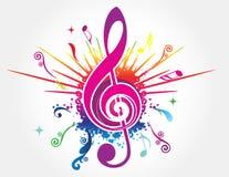 Kleurrijke muziekachtergrond Stock Foto's