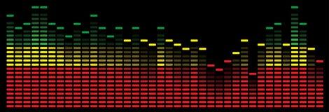 Kleurrijke muziekequaliser - vectorbeeld Stock Afbeelding