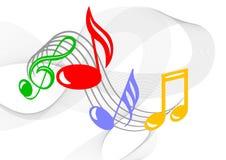 Kleurrijke muzieknota's Royalty-vrije Stock Afbeelding