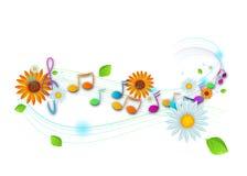 Kleurrijke muzieknota's vector illustratie