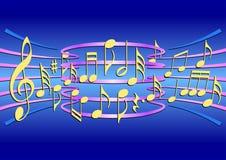 Kleurrijke muzieknoten Stock Foto
