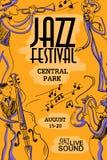 Kleurrijke Muzikale Affiche met Jazz Musicians vector illustratie