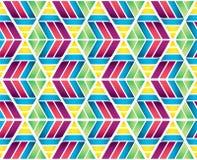 Kleurrijke Naadloze de Textuurachtergrond van de Driehoeks Hexagonale Honingraat Stock Foto