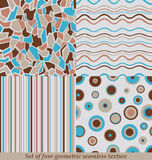 In Kleurrijke Naadloze Patronen, inzameling Stock Afbeeldingen