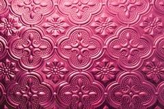 Kleurrijke naadloze textuur Glasachtergrond Binnenlandse van het de muurpatroon van de muurdecoratie 3D abstracte bloemen het gla Stock Fotografie