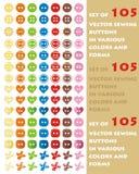 Kleurrijke naaiende knopen Royalty-vrije Stock Fotografie