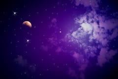 Kleurrijke nachthemel Royalty-vrije Stock Afbeelding