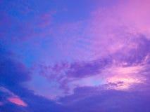 Kleurrijke nachthemel Stock Foto
