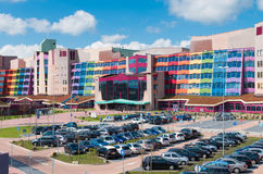 Kleurrijke Nederlandse het ziekenhuisvoorgevel Royalty-vrije Stock Afbeeldingen