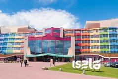 Kleurrijke Nederlandse het ziekenhuisvoorgevel Stock Foto