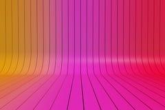 Kleurrijke neiging geschilderde plankenrij vector illustratie