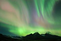 Kleurrijke noordelijke lichten Stock Afbeeldingen