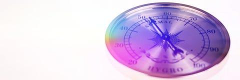 Kleurrijke normale hygrometer geïsoleerd op witte achtergrond Royalty-vrije Stock Fotografie
