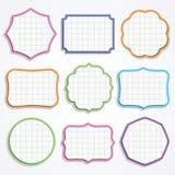 Kleurrijke notadocument vormen. Royalty-vrije Stock Afbeelding