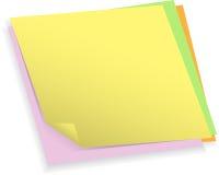 Kleurrijke notadocumenten Stock Afbeelding
