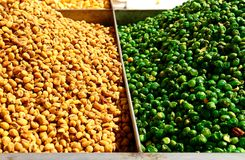 Kleurrijke noten Stock Afbeelding