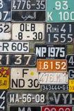 Kleurrijke Nummerplatenverticaal Stock Afbeeldingen