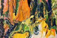 Kleurrijke olieverfschilderijachtergrond Stock Afbeeldingen