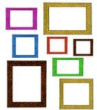 Kleurrijke Omlijstingen Stock Foto