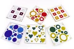 Kleurrijke onderleggers voor glazen voor glas Stock Foto's