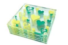 Kleurrijke onderleggers voor glazen voor glas Stock Foto