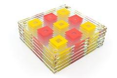 Kleurrijke onderleggers voor glazen voor glas Royalty-vrije Stock Foto