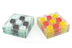 Kleurrijke onderleggers voor glazen voor glas Royalty-vrije Stock Afbeelding