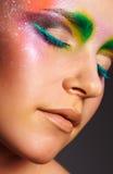 Kleurrijke oogmake-up Stock Foto