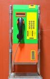 Kleurrijke openbare telefoon Royalty-vrije Stock Fotografie