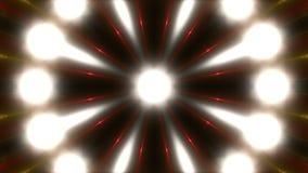 Kleurrijke opvlammende lichten, lijn stock illustratie