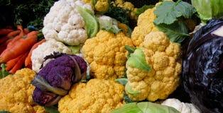 Kleurrijke organische vegis Stock Foto's